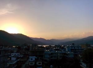 Sonnenaufgang in Nepal