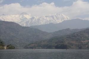 Blick aufs Annapurna-Massiv beim Himalayan Rush