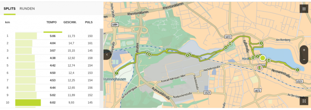 TomTom Runner 2 Cardio Test: TomTom MySports Karte